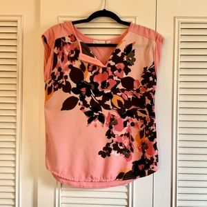 NY & Co Pink Flower Blouse